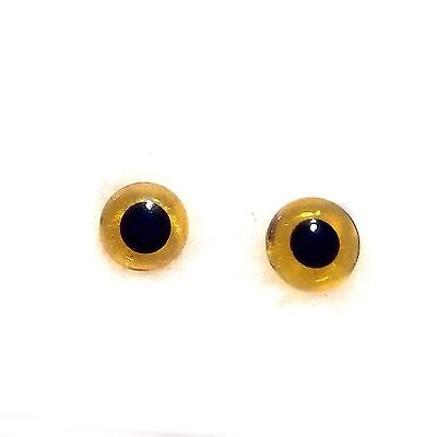 80pcs Amber Glass Eyes 3-10mm Needle Kit DIY Beans Type Eye for Teddy Dolls  LM