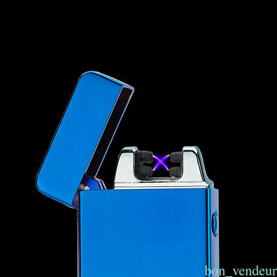 Dual Arc Cigarette Plasma Rechargeable Windproof Flameless USB Smoke Lighter NY