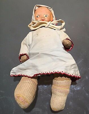 Antique Campbell Kid Cloth Doll with Compsite Head