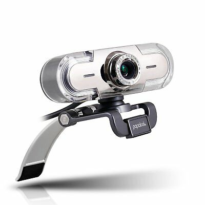 Webcam 1080P, PAPALOOK PA452 Full HD PC Skype Camera, Web Cam with Microphone, 7