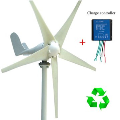 NEW 400W Wind Turbine Generator 12 V 3 Blade Power Supply + Charge Controller US