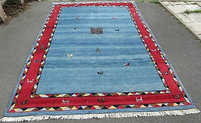 Impressive Large Persian Gabbeh Carpet Large Rug 9 Foot 7 By 6 Foot 8 .