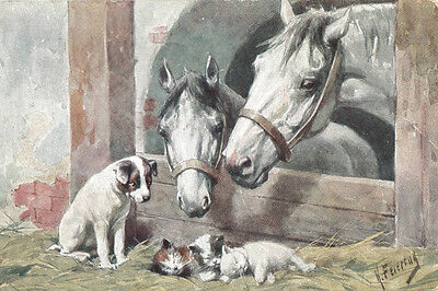 Jack Russell Terrier Dogs, Kittens Horses Feriertag LARGE New Blank Note Cards