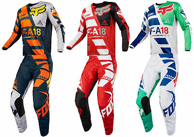 Fox Racing Mens 180 Sayak Dirt Bike Jersey & Pants Kit Combo MX ATV Off-Road  18
