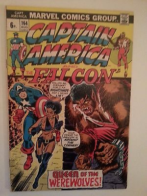 captain america 164 vf/nm first nightshade