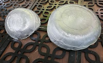 12 Arcoroc France Fleur 8'' AND 5 5/8'' Clear Glass Petal Salad Dessert Plate