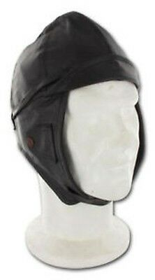Leather Helmet en Cuir Marron Taille S