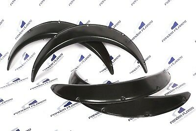 "UNIVERSAL Fender Flares JDM Wheel arches SET 2.2"" wide 2 pieces"