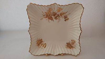 "Hard To Find! Hammersley Golden Cornflower 7"" Square Dish / Plate"