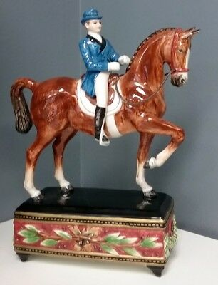 FITZ AND FLOYD CLASSICS Gentleman Equestrian Rider On Brown Horse Figurine SR