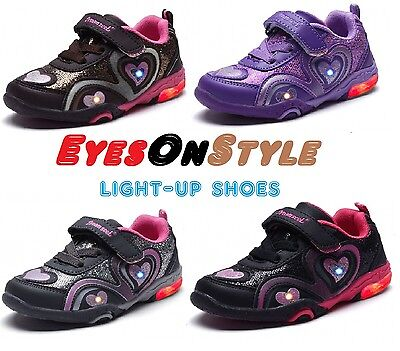 Boys Girls Lighted Tennis Shoes Sneakers Toddler Youth Kids Casual Running Shoes