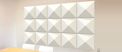 Office Acoustic Wall Tile - Pack of 6 Acoustic Panels