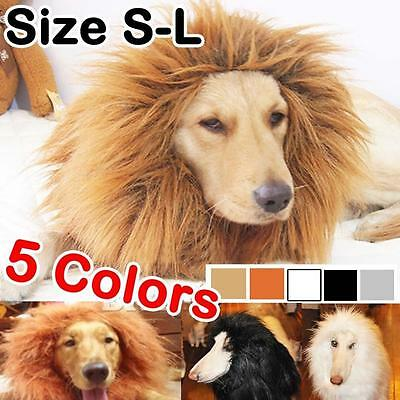 Pet Costume Lion Mane Wig Dog Halloween Sanda Clothes Festival Fancy Dress up PN