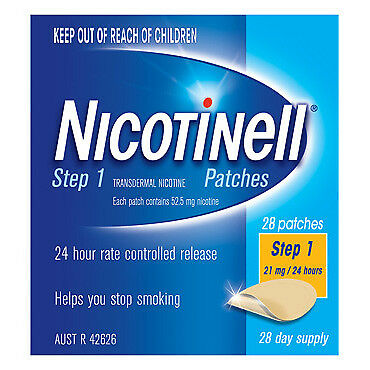 Nicotinell Patches 21mg 28 NEW Cincotta Chemist