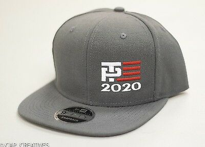 Make America Great Again- Donald Trump Hat 2020 -TP Flag US NEW ERA Charcoal Cap