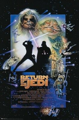 """Star Wars Poster """"licensed"""" Brand New """"return Of The Jedi"""" Special Edition 1997"""