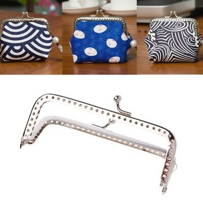 10cm 1PC Square Metal Frame Kiss Clasp For Handle Bag Purse DIY Accessories