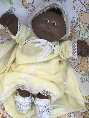 CUTEST PREEMIE (premature) Cabbage Patch AFRICAN AMERICAN ETHNIC BABY FRENCH TAG
