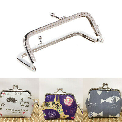 8.5cm 1PC Metal Sewing Holes Handbag Clutch Coin Purse Bag Frame Kiss Clasp Arch