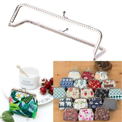 18cm 1PC Square Metal Frame Kiss Clasp For Handle Bag Purse Accessories DIY