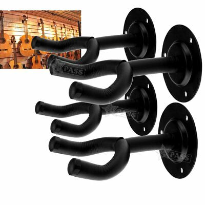 4x Guitar Wall Mount Bracket Hanger Soft Rubber Foam Padded Hook Mount Holder AU
