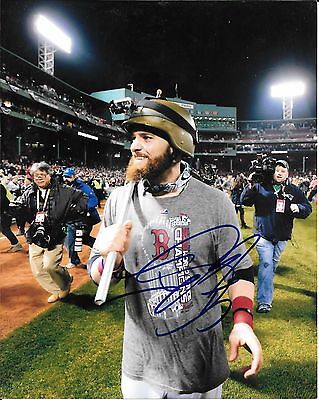 a1775550f BOSTON RED SOX JONNY GOMES SIGNED 2013 WORLD SERIES 8x10 PHOTO COA ...