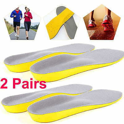 2x MEMORY FOAM UNISEX ORTHOPAEDIC SHOE PADS TRAINER FOOT FEET COMFORT INSOLES ML