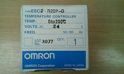 New E5C2-R20P-D Omron 0-200c thermo regulator/temperature controller 24v .