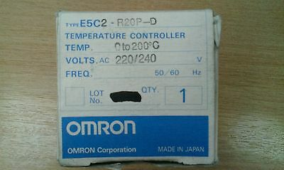 New E5C2-R20P-D Omron 0-200c thermo regulator/temperature controller 240v .