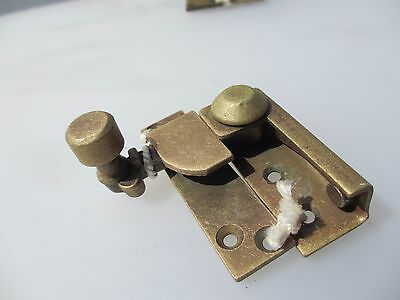 Victorian Brass Sash Window Latch Lock Catche Fastener Vintage Old