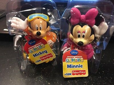 Mickey Mouse & Minnie Mouse Baby Toy Bath Squirter Lot of 2 New