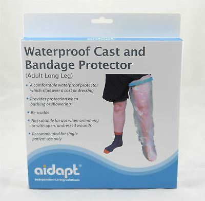 Adult Long Leg Waterproof Cast and Bandage Protector Cover for Bathing