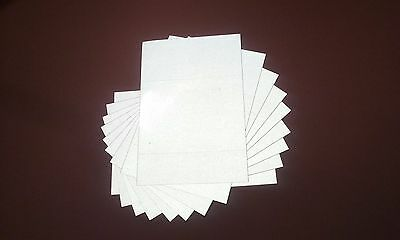 REFLECTIVE sign vinyl for lettering - 10 Pack (8.5 x11 in sheets) free shipping
