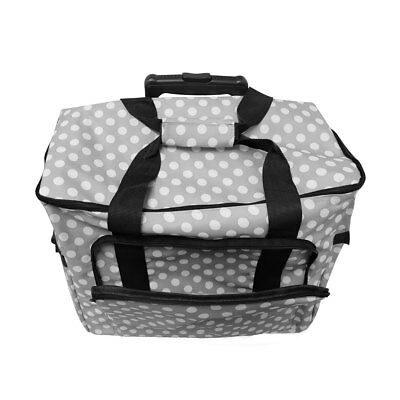 Sew Easy| Fabric Trolley Bag| Polka Dot |MR4665Grey