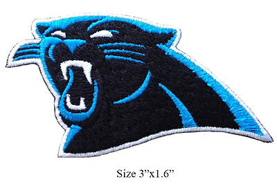 newest collection 80812 f18cd CAROLINA PANTHERS LOGO Left Facing Embroidered Iron On Patch.