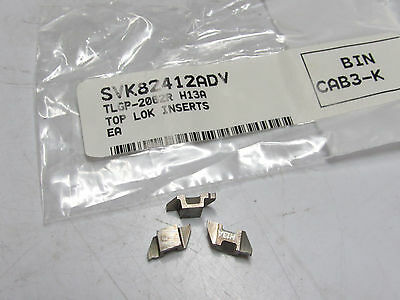 3 new SANDVIK Coromant TLGP-2062R H13A Carbide Indexable Top Lok Inserts