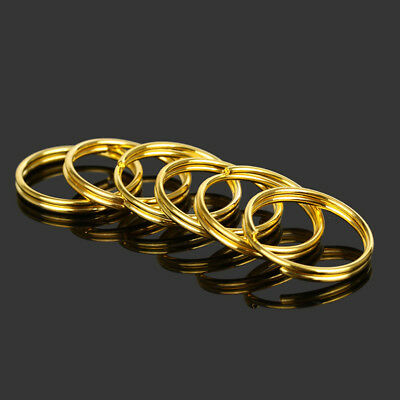 Gold Keyring Split Key Rings 25Mm Nickel Hoop Ring Nickel Plated Steel Loop