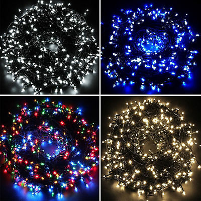 Waterproof LED Fairy Lights 40 /100 / 200 / 400 / 600 / 800 /1000 LED WITH MAINS
