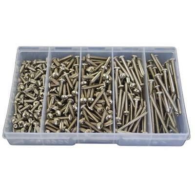 Pan Self Tapping Screw Assortment Kit 8g Marine Stainless G316 Tapper #154