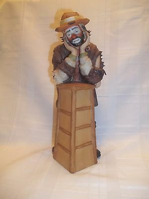 Emmett Kelly Jr WHY ME Clown Figurine  Limited Edition  Numbered  Flambro 10 In