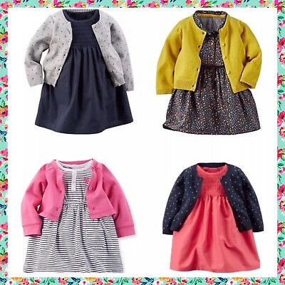 CARTER'S Baby Girl Dress & Cardigan Lot - 3 Months EUC - BEST OFFERS CONSIDERED!
