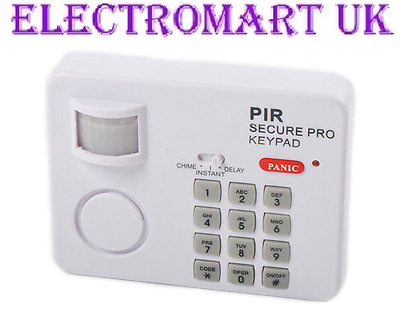 Wireless Motion Sensor Pir Keypad Security Alarm Garage Home Shed Caravan
