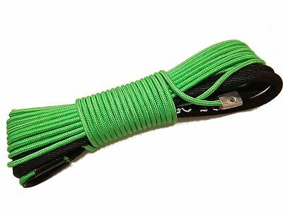 "1/4"" x 50' Synthetic Winch Rope Line Cable 8200 LB Capacity ATV UTV W/Sheath GRN"