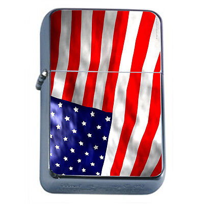American Flag D12 Windproof Dual Flame Torch Lighter Refillable