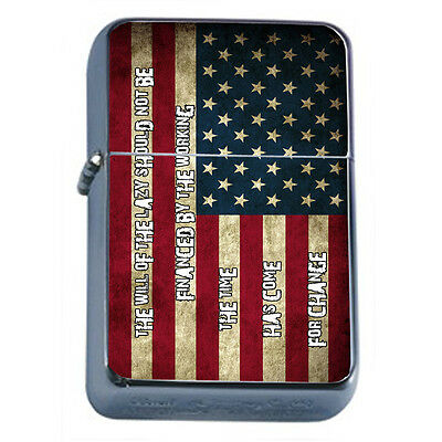 American Flag D14 Windproof Dual Flame Torch Lighter Refillable