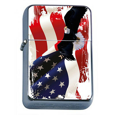 American Flag D16 Windproof Dual Flame Torch Lighter Refillable