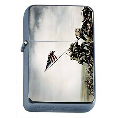 American Flag D17 Windproof Dual Flame Torch Lighter Refillable
