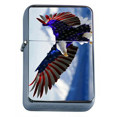 American Flag D18 Windproof Dual Flame Torch Lighter Refillable