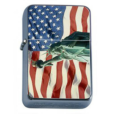 American Flag D20 Windproof Dual Flame Torch Lighter Refillable