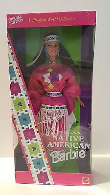 1994 3rd Edition Native American Barbie. Dolls Of The World Collection #12699.